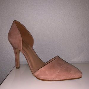Madewell Dusty Rose Suede Heels